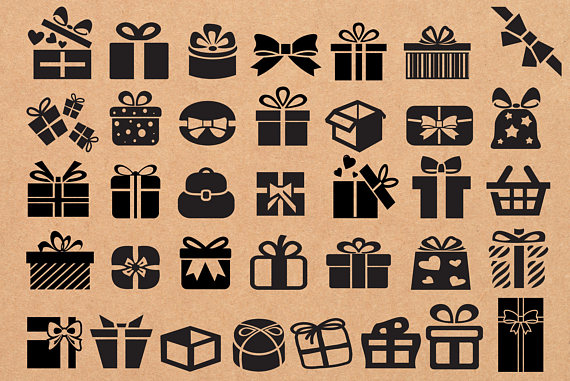 x gift svg. Boxes clipart silhouette