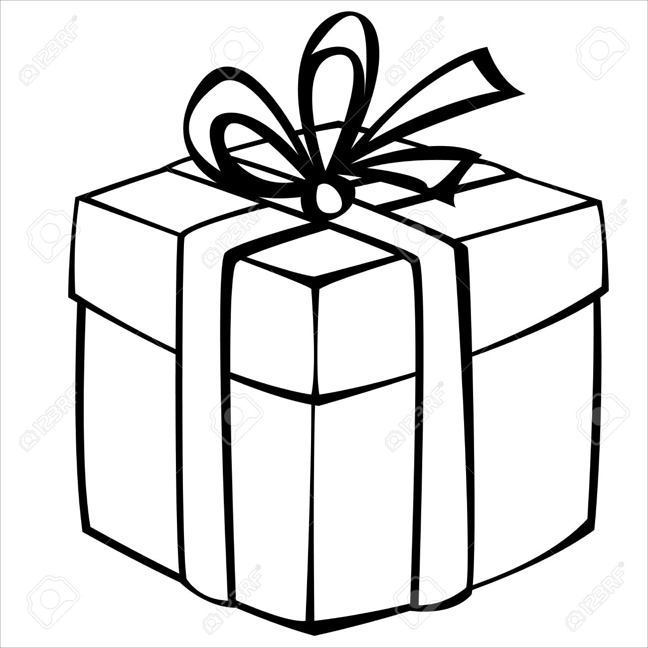 Gift box drawing at. Boxes clipart sketch
