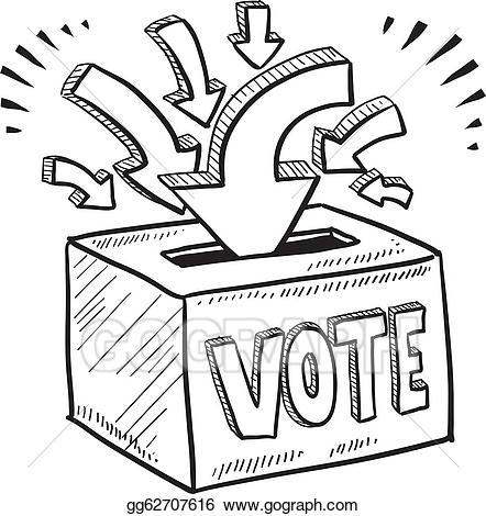 Eps vector ballot box. Boxes clipart sketch