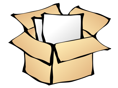 Free cardboard page of. Box clipart storage box
