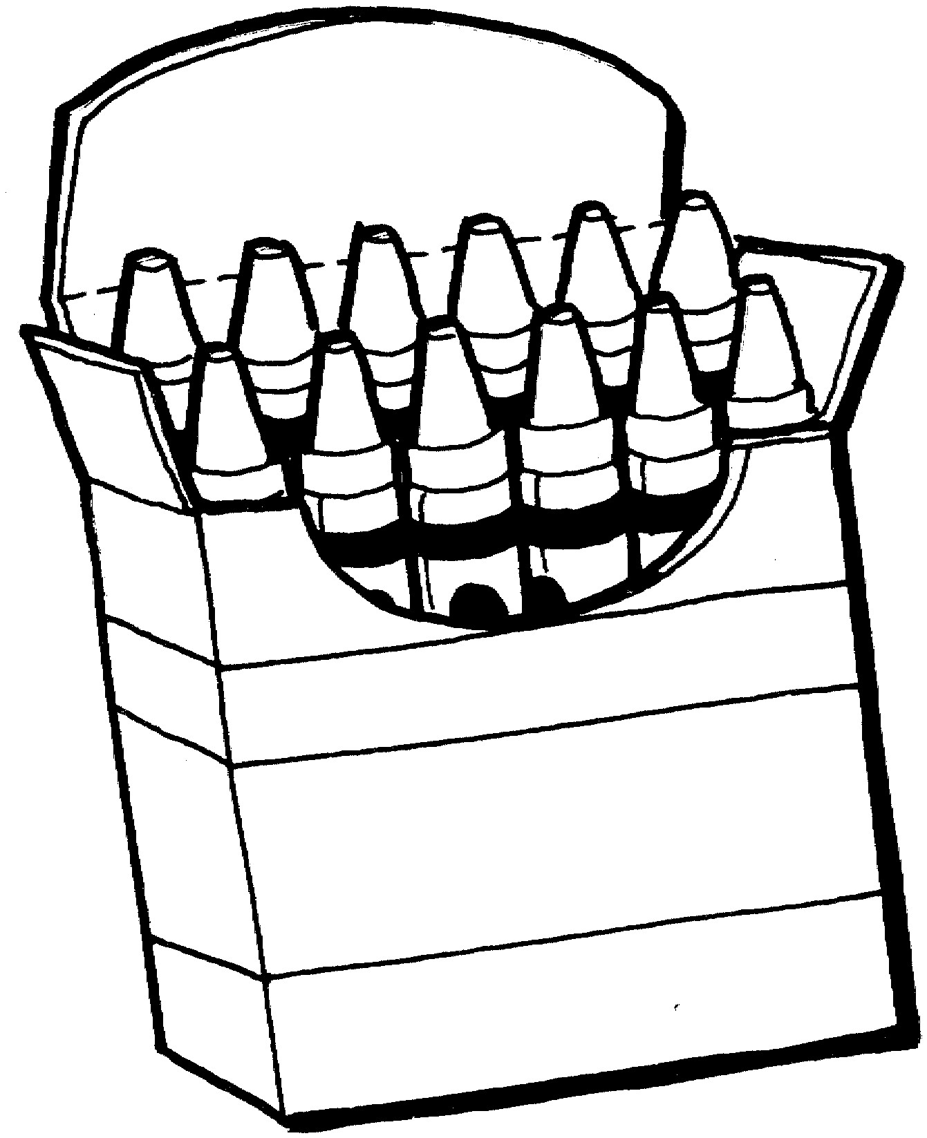 Box clipart black and white. Crayon rescuedesk me
