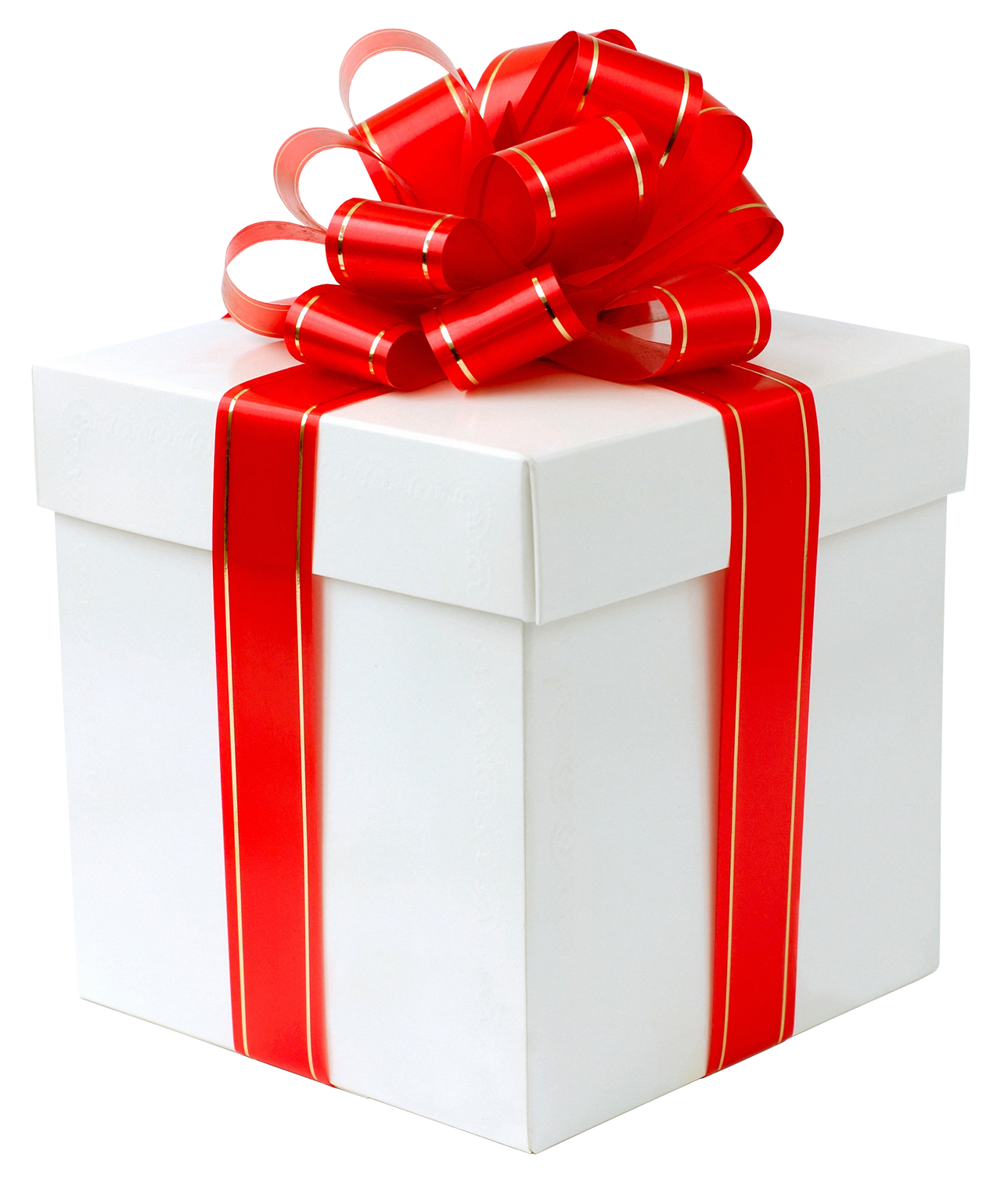 White gift box with. Boxes clipart transparent