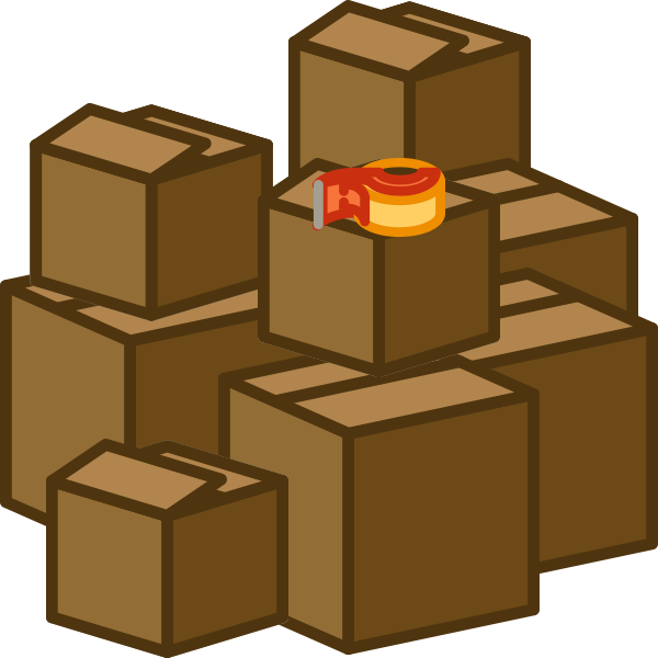 Boxes clipart transparent.  collection of moving