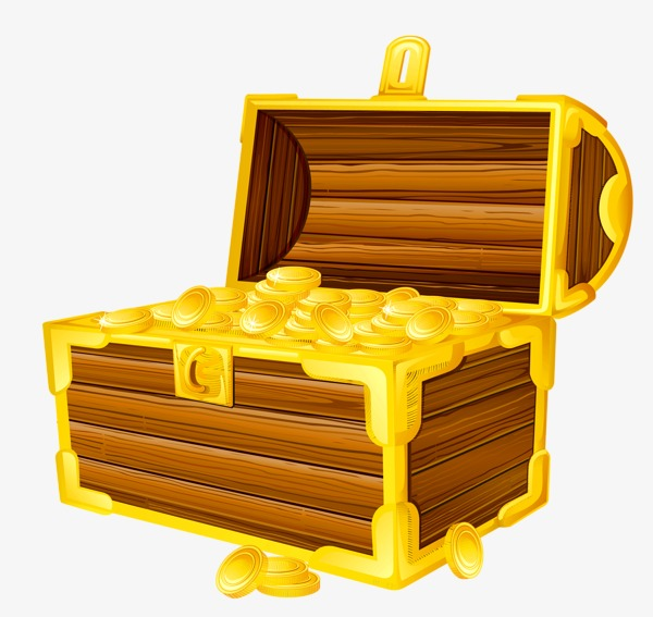 Boxes clipart tresure. A treasure box bullion