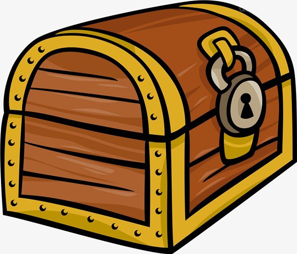 Boxes clipart tresure. Cartoon box material treasure