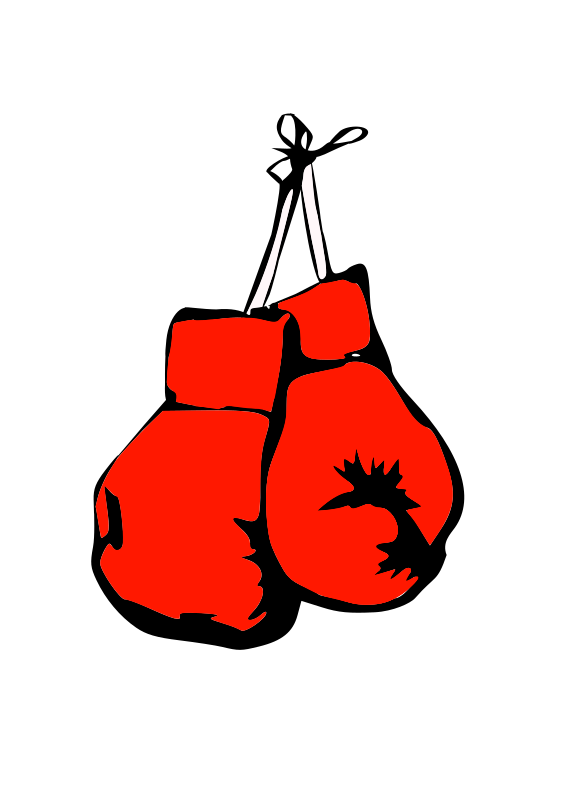 Burning gloves medium image. Boxing clipart background
