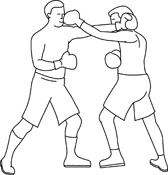 Boxing clipart black and white. Search results for clip