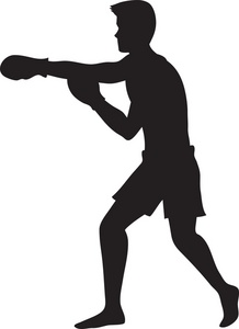boxer clipart punching