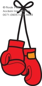Illustration of gloves . Boxing clipart boxing glove