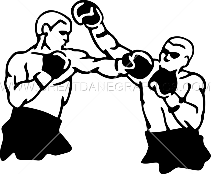 Boxing clipart boxing match. Production ready artwork for