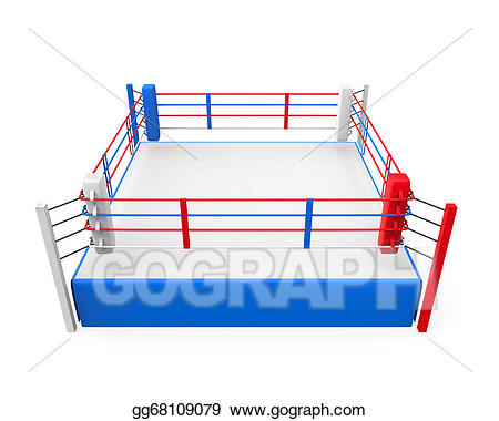 Stock illustration clip art. Boxing clipart boxing ring