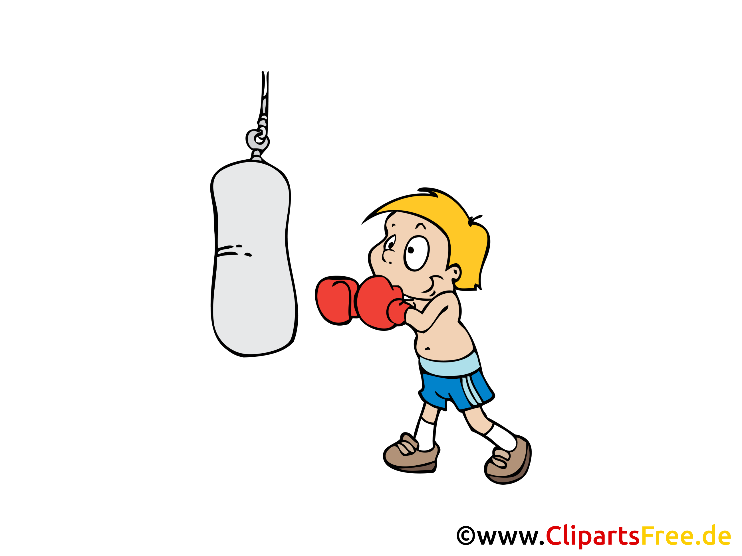 Boxer clipart boxing bag. Sport station
