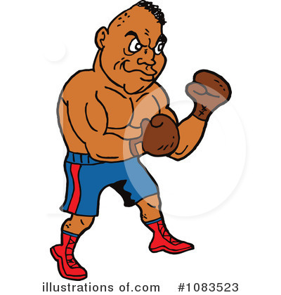 Illustration by lafftoon . Boxing clipart boxing sport