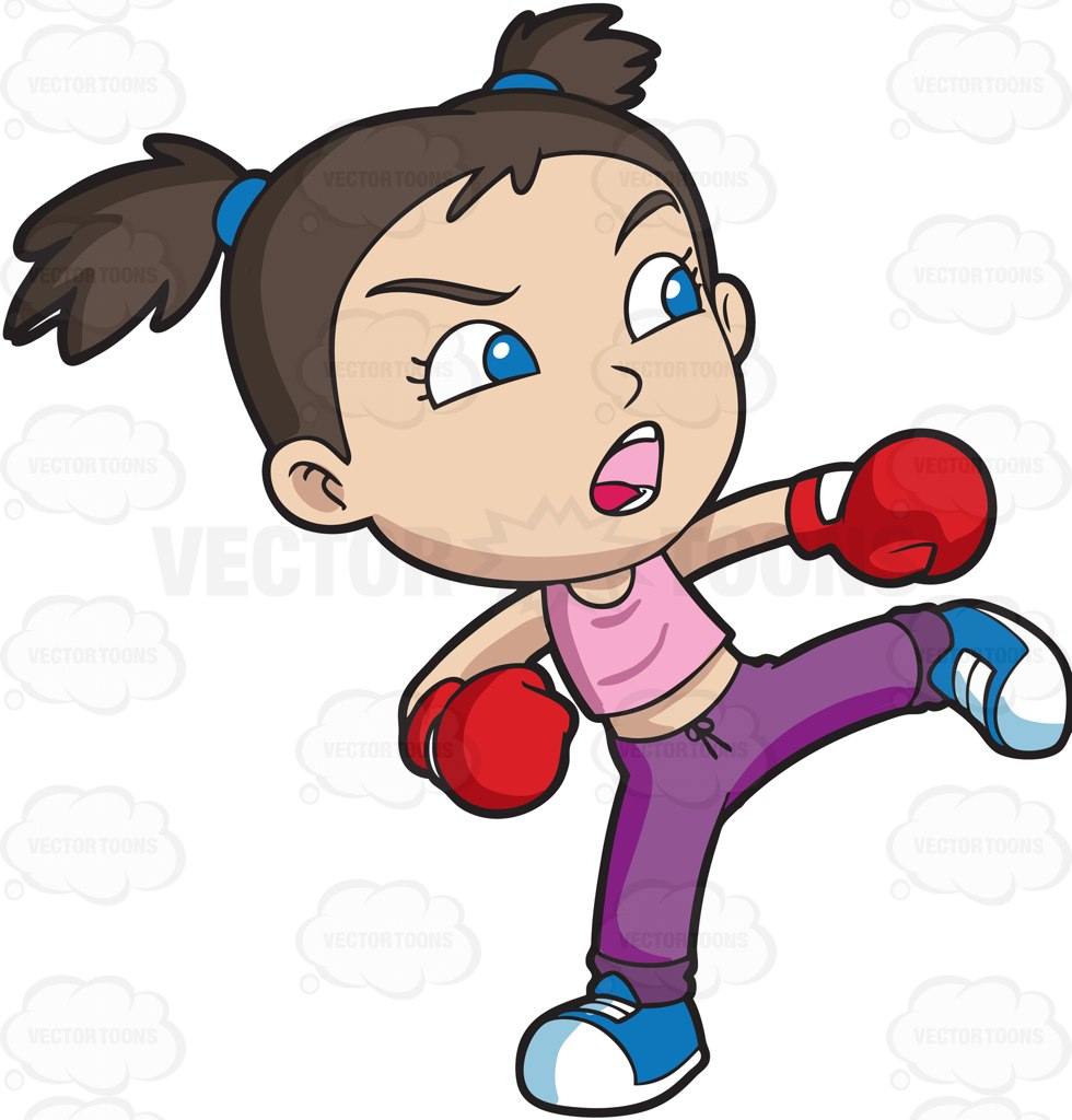 Boxer clipart cartoon.  collection of kick