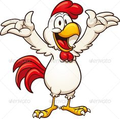 Angry cartoon vector clip. Boxing clipart chicken
