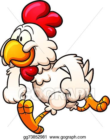 Vector art cartoon drawing. Boxing clipart chicken