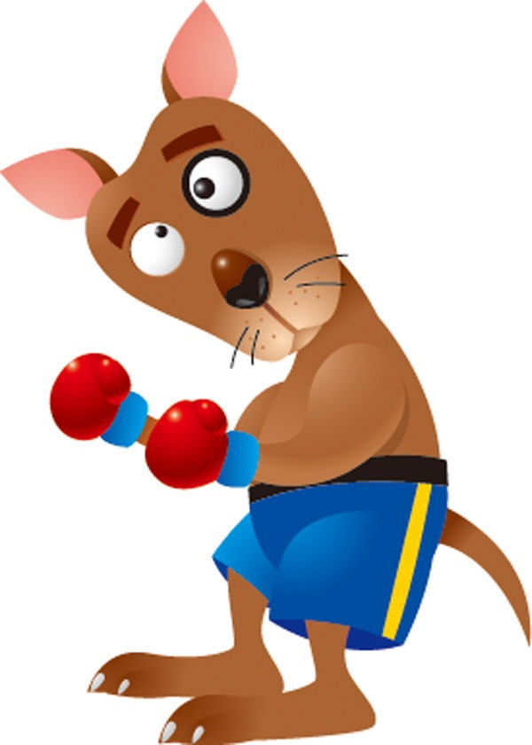 Animal boxing . Boxer clipart cartoon
