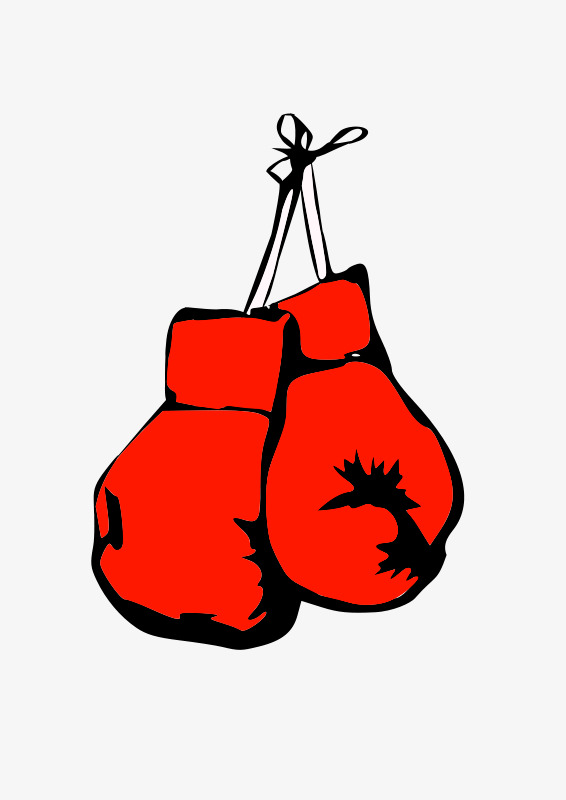 A pair of red. Boxer clipart punching