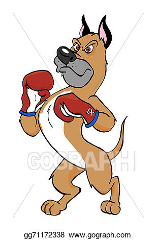 Drawing dog gg gograph. Boxer clipart cartoon