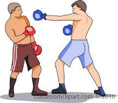 Boxer clipart jab. Boxing coloured illustration cliparts