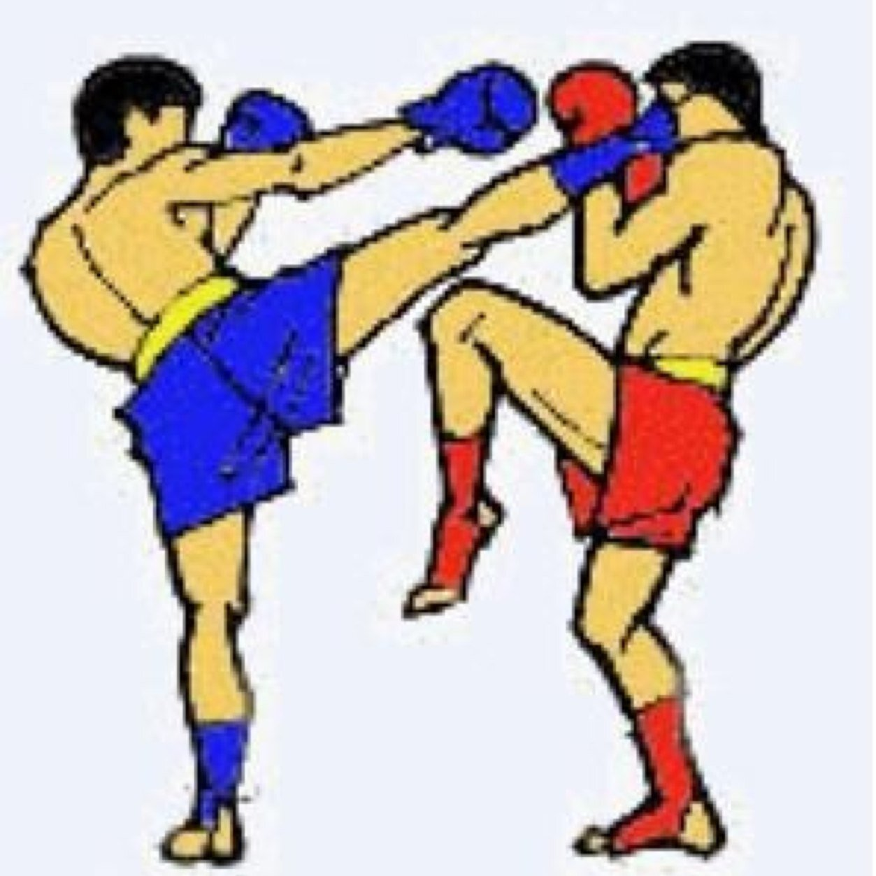 Boxing clipart kick boxing.  collection of images