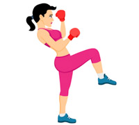 Sports free to download. Boxing clipart kick boxing