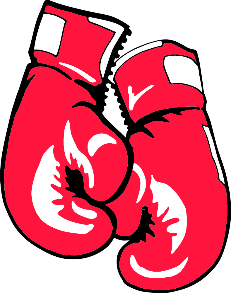 Hanging boxing gloves drawing. Boxer clipart professional boxer