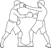 Boxing clipart outline. Free black and white