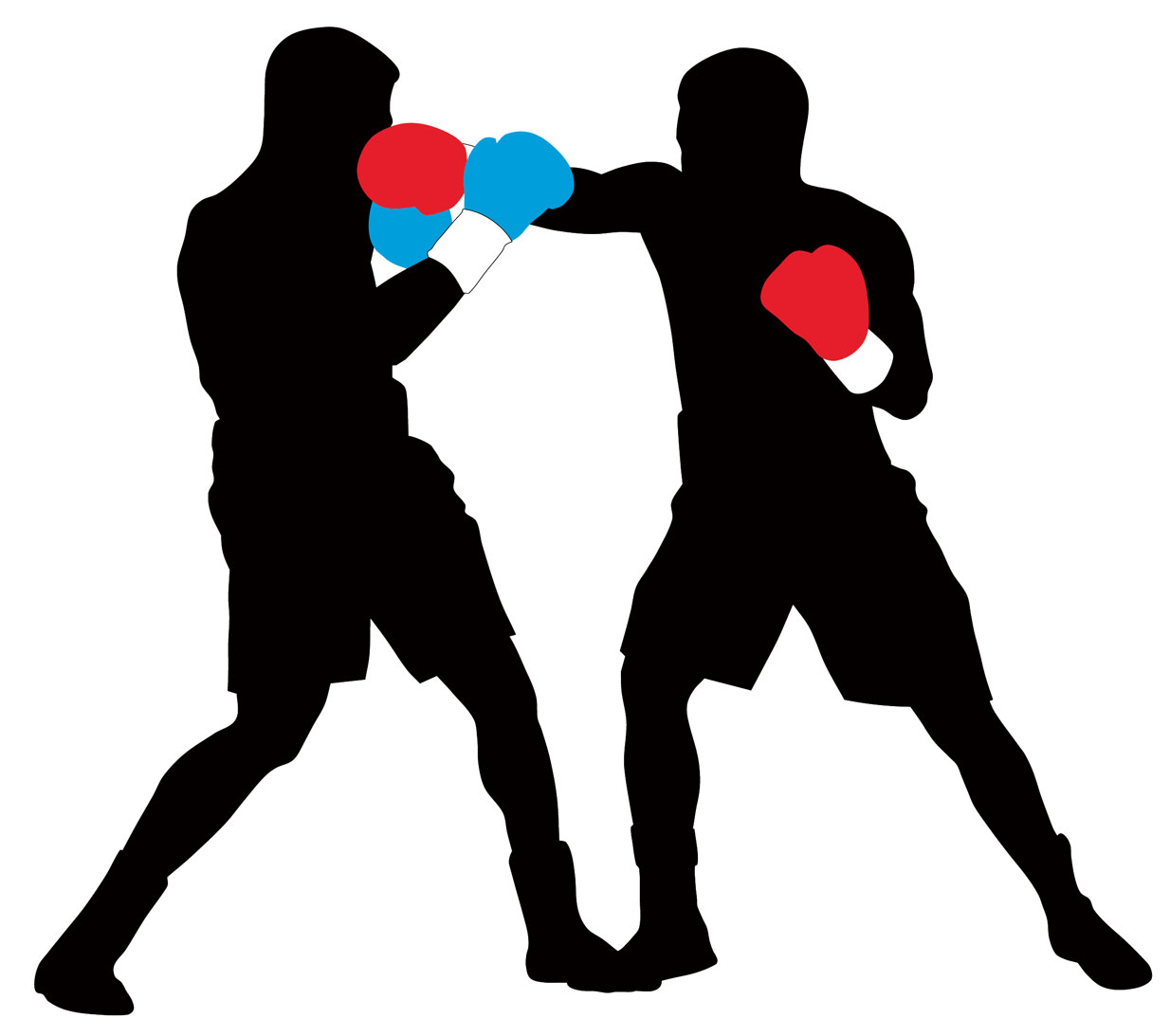 Boxing silhouette . Boxer clipart professional boxer