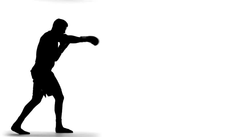Punch at getdrawings com. Boxer clipart silhouette