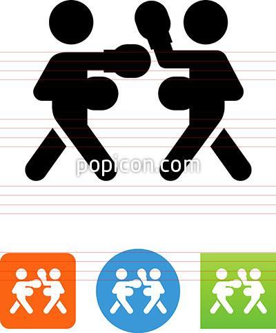 Icon popicon. Boxing clipart symbol