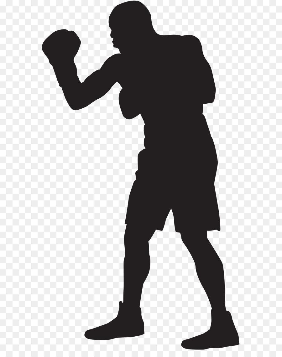 Silhouette boxing clip art. Boxer clipart black and white