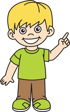 Black and white happy. Clipart boy