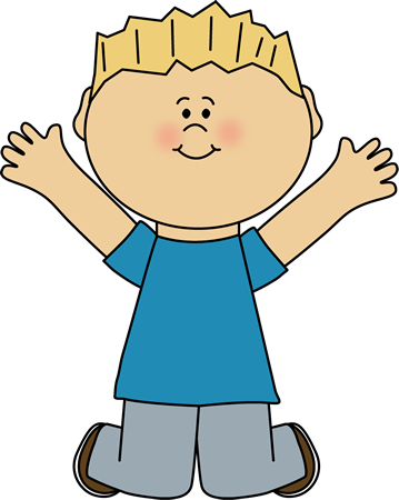 Jumping clip art image. Boy clipart