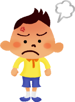 Free illustrations illustorium. Boy clipart angry