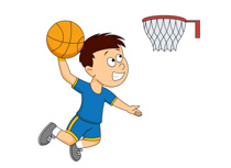 Boys clipart basketball player. Dunking boy playing station