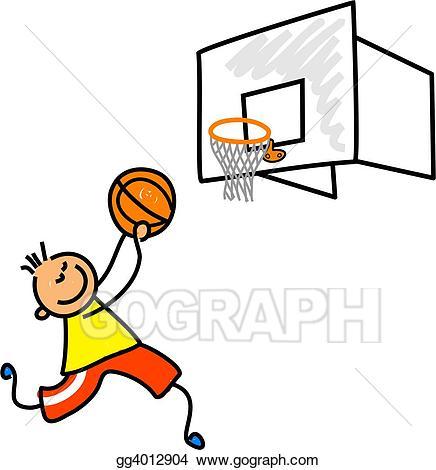 Drawing kid gg gograph. Boy clipart basketball player