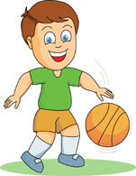 collection of kid. Boys clipart basketball player