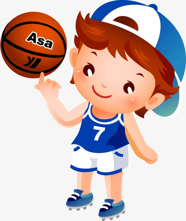 Boy playing play child. Boys clipart basketball player
