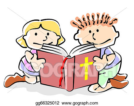 Vector stock kids illustration. Bible clipart god's word