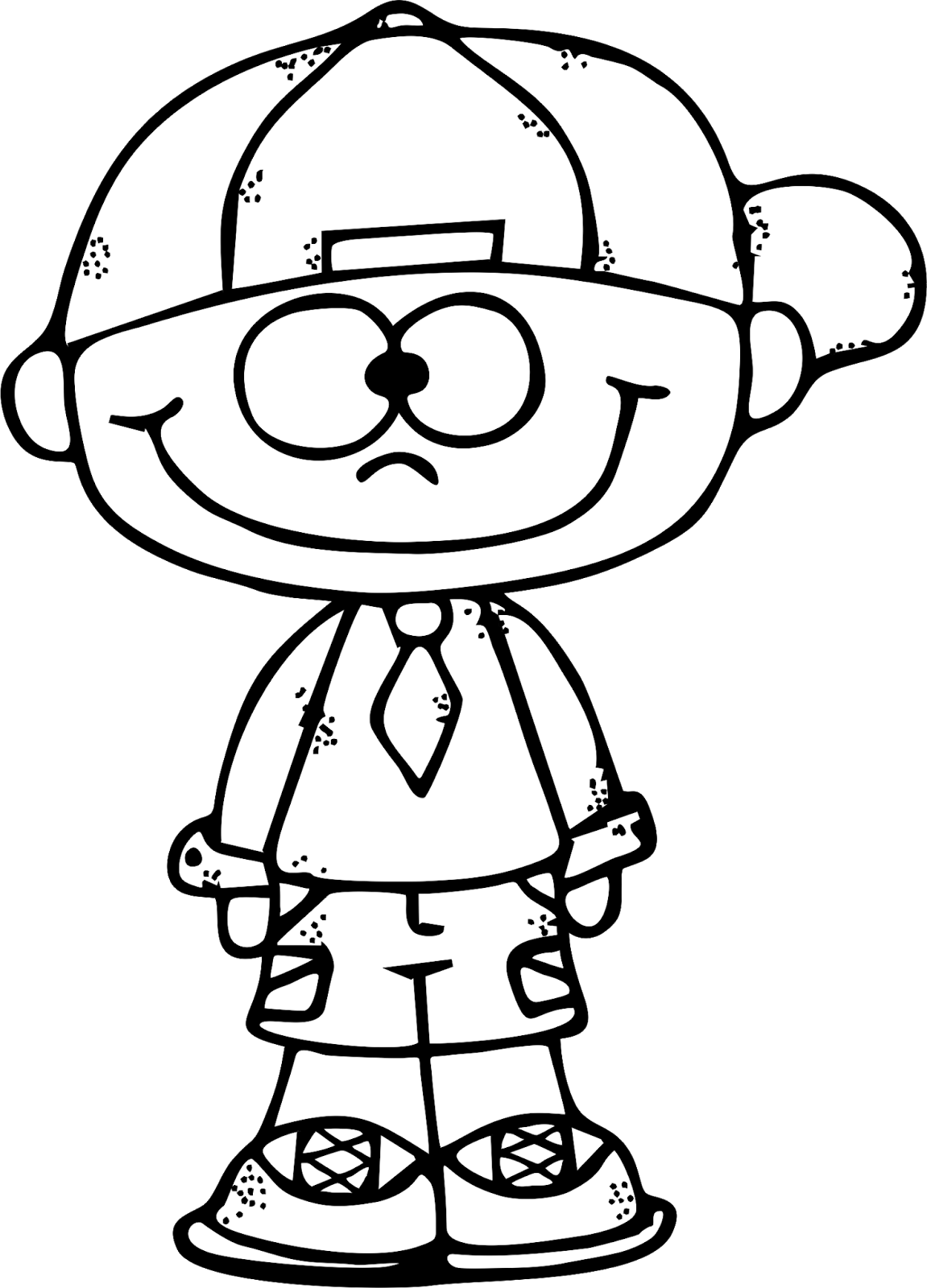Kid clipart career. Boy black and white