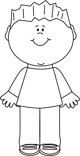 Happy boy clip art. Boys clipart black and white