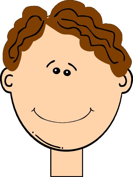 Boys clipart brown hair. Happy boy clip art