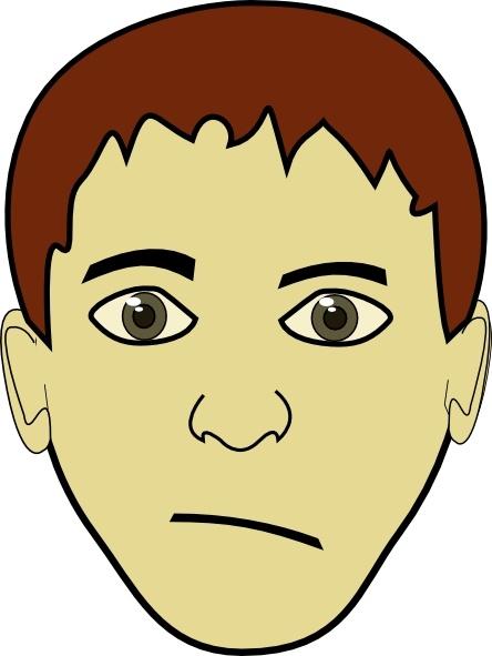Boy face clip art. Boys clipart brown hair