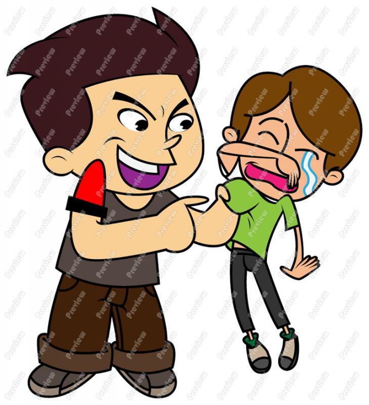 Bullied . Boy clipart bully