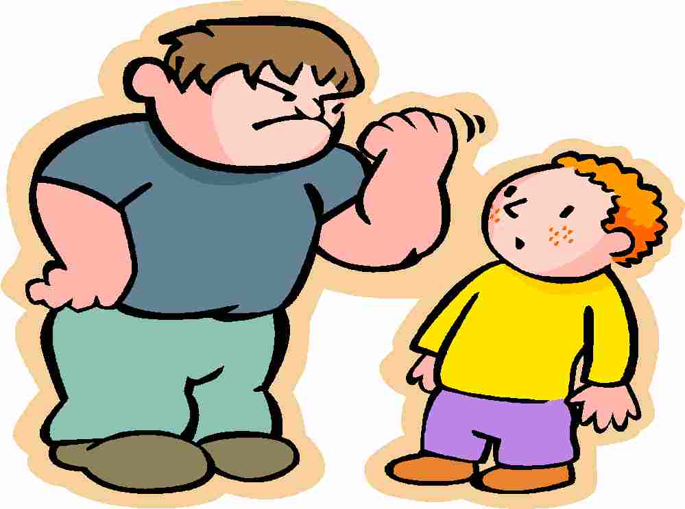 Bully clipart intimidating. Free cartoon pictures download