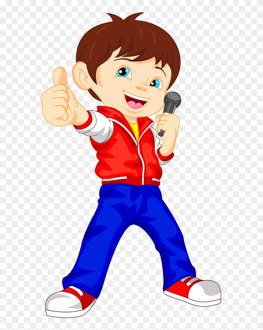 Boy clipart cartoon.  singer png download