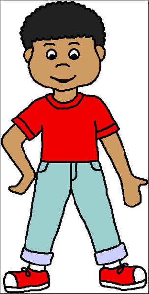 Clip art kids color. Clipart child boy