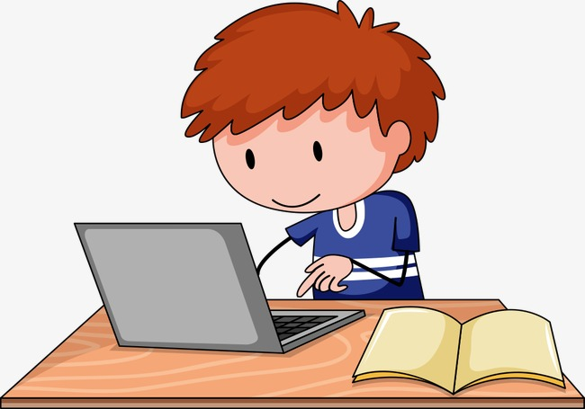 Boys clipart computer. Boy playing people illustration