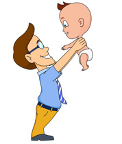 Search results for lifting. Boy clipart dad